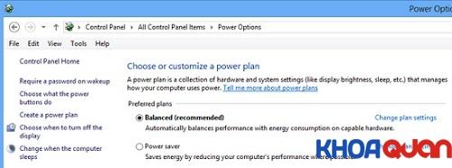 Mẹo tiết kiệm pin laptop giá rẻ khi dùng Windows 8 1