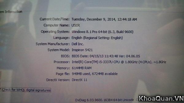 Dell Inspiron 5421-14-9