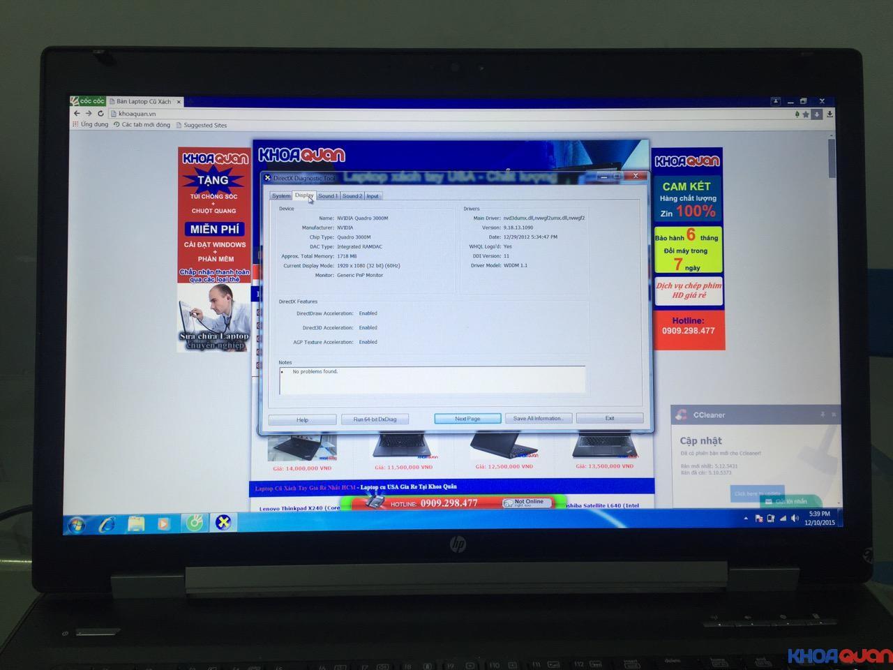 HP Elitebook 8760W-i7-17-11