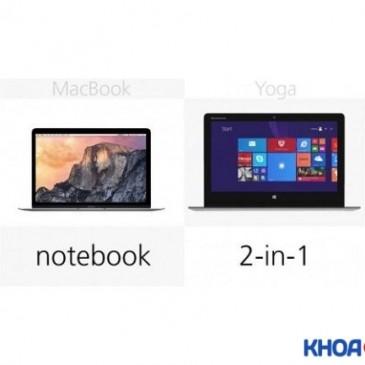 Tìm hiểu về laptop xách tay cao cấp Macbook và Lenovo Yoga 3