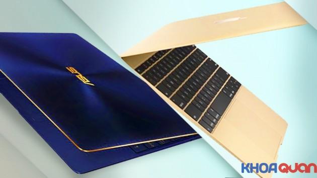 So sánh laptop cao cấp Asus ZenBook cùng Macbook 12 inch