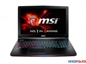 MSI Gaming GE62 6QD ( Core I7 6700HQ – Ram 16 -SSD128+ HDD 1T – GTX 960M 2G – 15″ – FHD)
