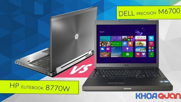 So sánh Dell Precision M6700 và HP 8770W