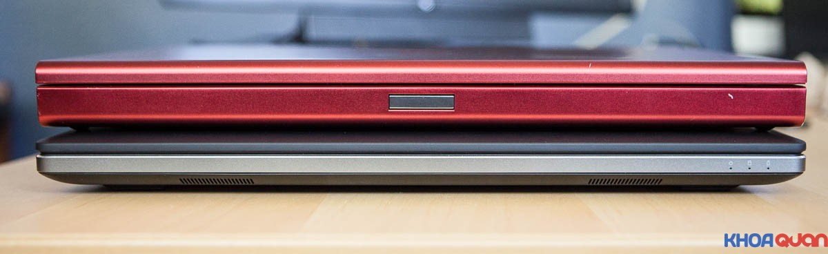 So sánh ảnh ngoại hình Dell 7710 và Dell M6700 Red Covet
