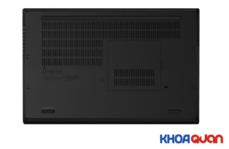 Thiết kế mặt dưới Lenovo ThinkPad P15