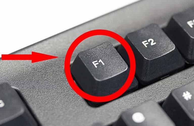 Nhấn giữ phím F1 để có thể tiếp tục sử dụng Windows