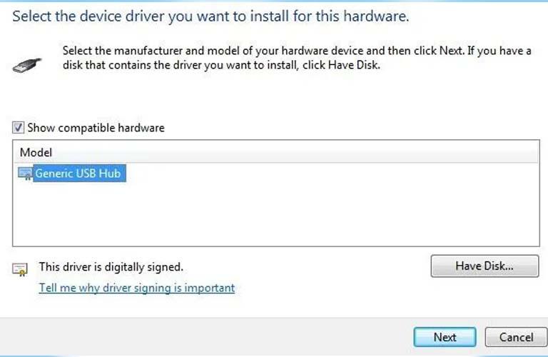 Hướng dẫn cập nhật Generic USB Hub để sửa lỗi