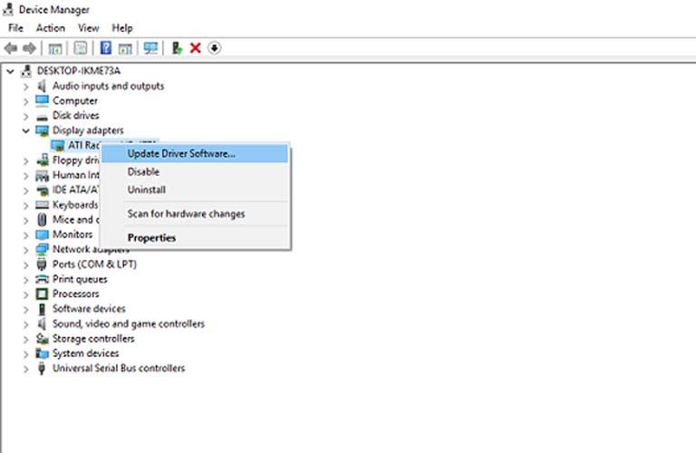 Cập nhật Driver màn hình cho laptop của bạn để sửa lỗi tự tắt màn hình
