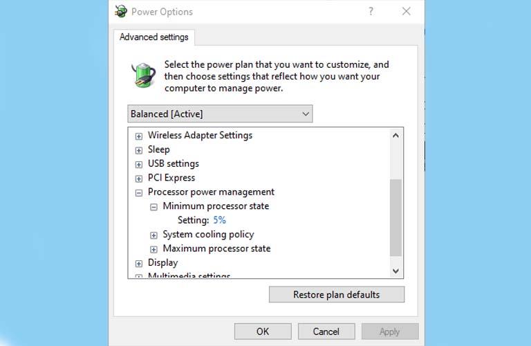 Tinh chỉnh cài đặt nguồn cho laptop xách tay của bạn màn không ảnh hưởng đến dữ liệu