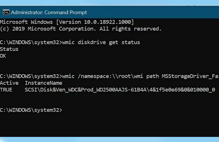 Sử dụng lệnh trong Command Prompt để kiểm tra xem ổ cứng có xảy ra vấn đề gì hay không