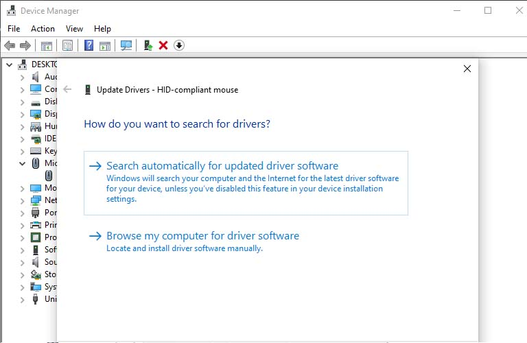 Có hai lựa chọn để bạn có thể cập nhật mới Driver