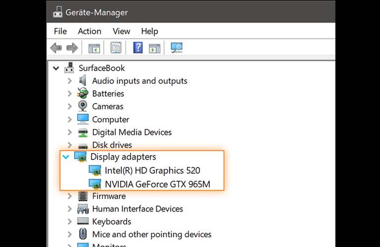 Xem thử xem có mục nào chứa từ graphics, VGA, Intel, AMD, hay NVIDIA bên dưới chữ Display Adapters không