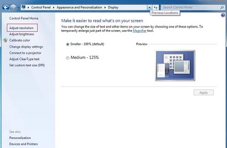 Các bước để các bạn chỉnh sửa độ phân giải của màn hình máy tính xách tay của bạn