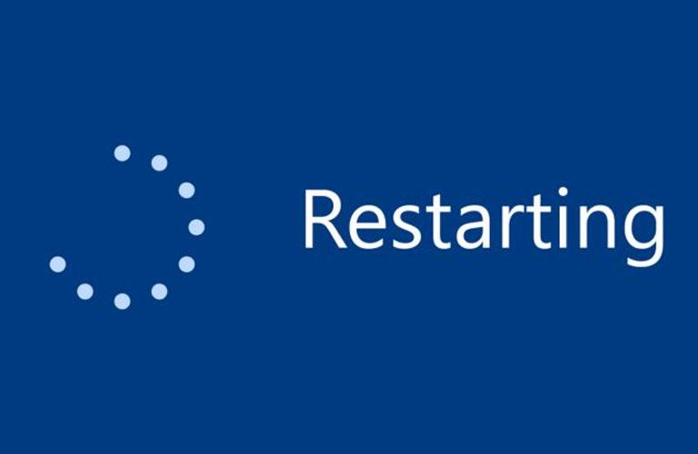 Hãy khởi động lại laptop để sửa lỗi Unidentified Network