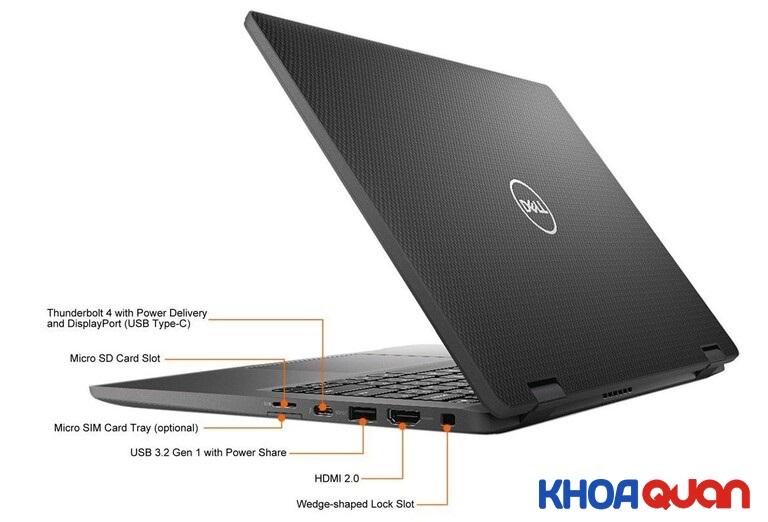 Laptop Dell Latitude 7420 trang bị đầy đủ các cổng kết nối cho người dùng